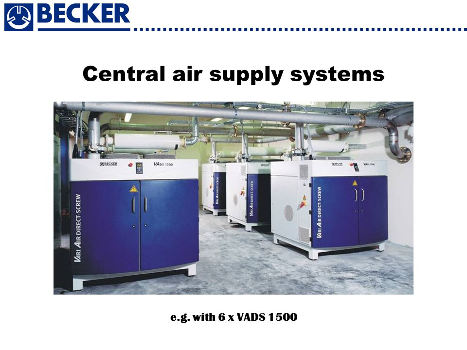 Central air supply systems