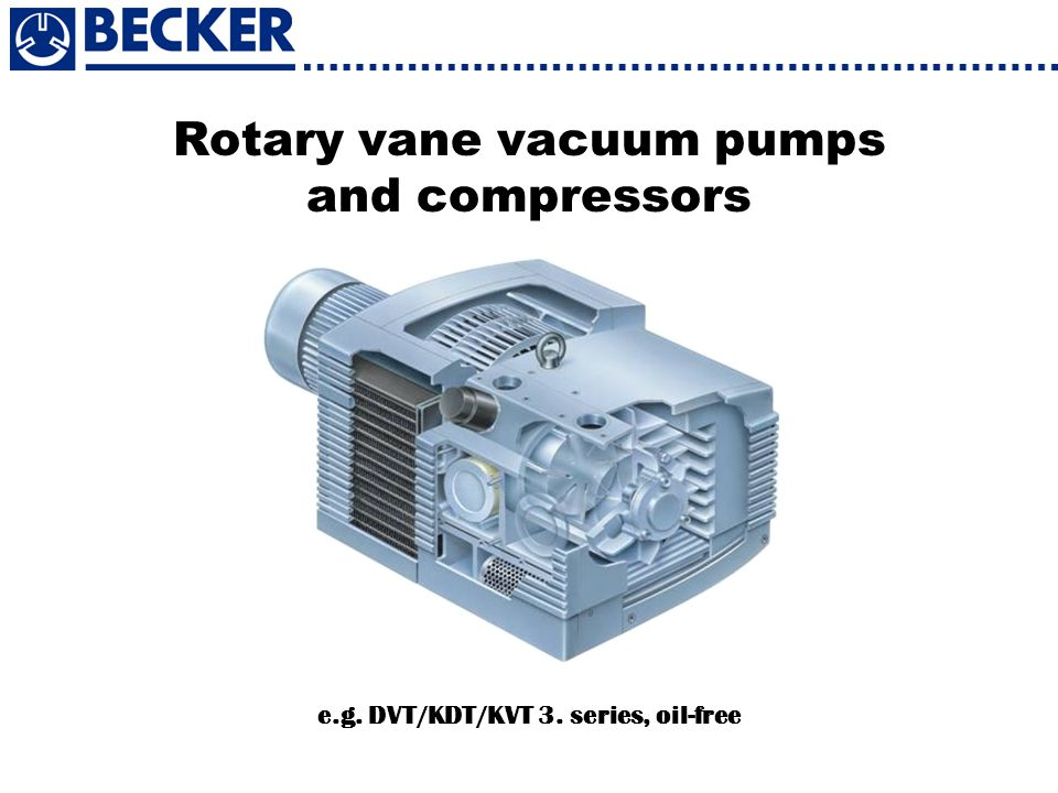Rotary vane vacuum pumps and compressors