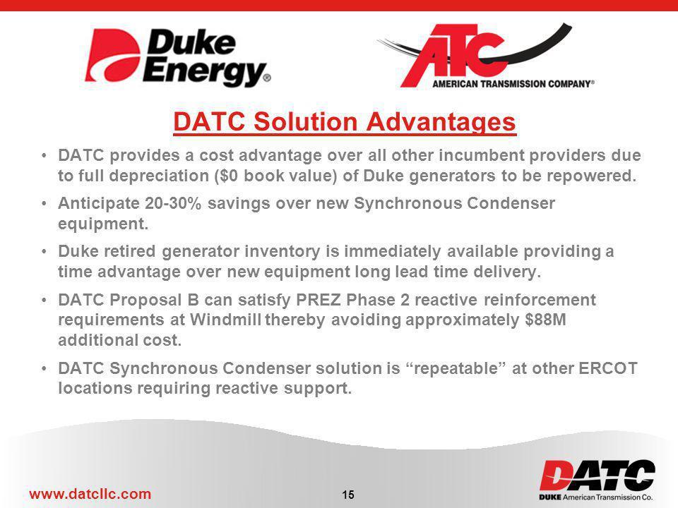 DATC Solution Advantages