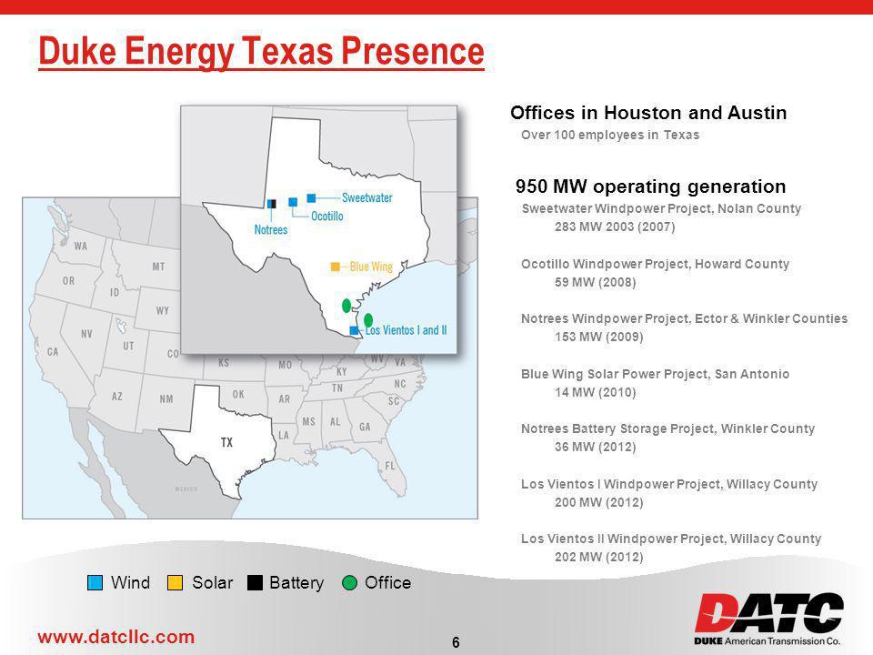 Duke Energy Texas Presence
