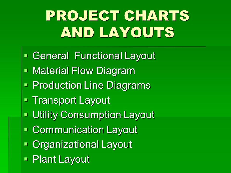 PROJECT CHARTS AND LAYOUTS