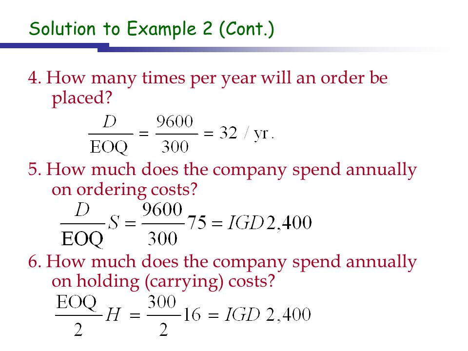 Solution to Example 2 (Cont.)