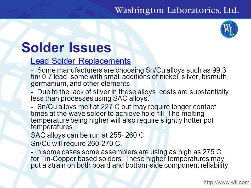 Solder Issues Lead Solder Replacements