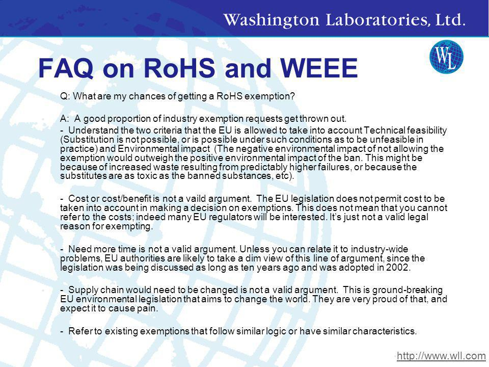 FAQ on RoHS and WEEE http://www.wll.com