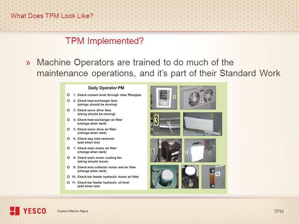 What Does TPM Look Like TPM Implemented