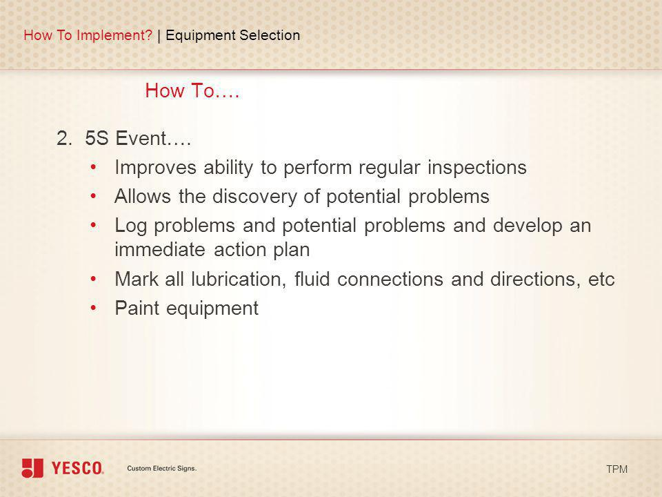 Improves ability to perform regular inspections