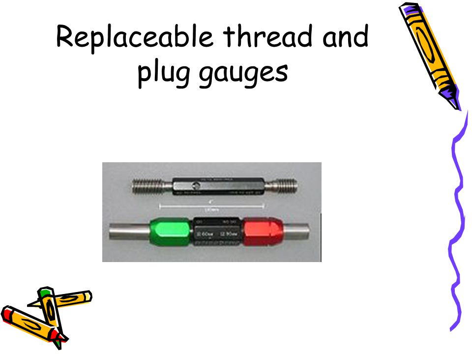 Replaceable thread and plug gauges