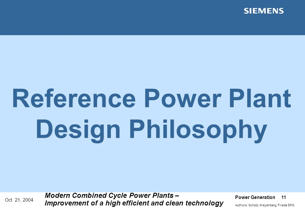 Reference Power Plant Design Philosophy