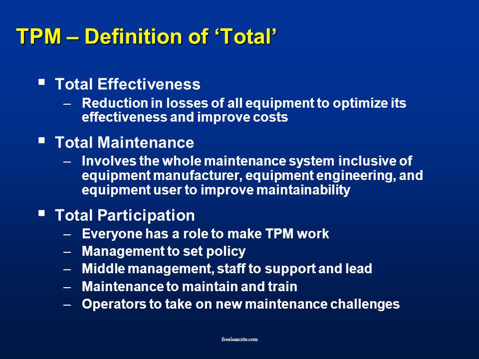 TPM – Definition of 'Total'