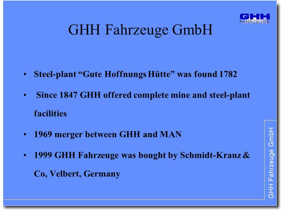 GHH Fahrzeuge GmbH Steel-plant Gute Hoffnungs Hütte was found 1782