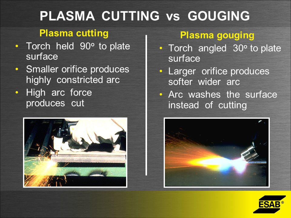 PLASMA CUTTING vs GOUGING