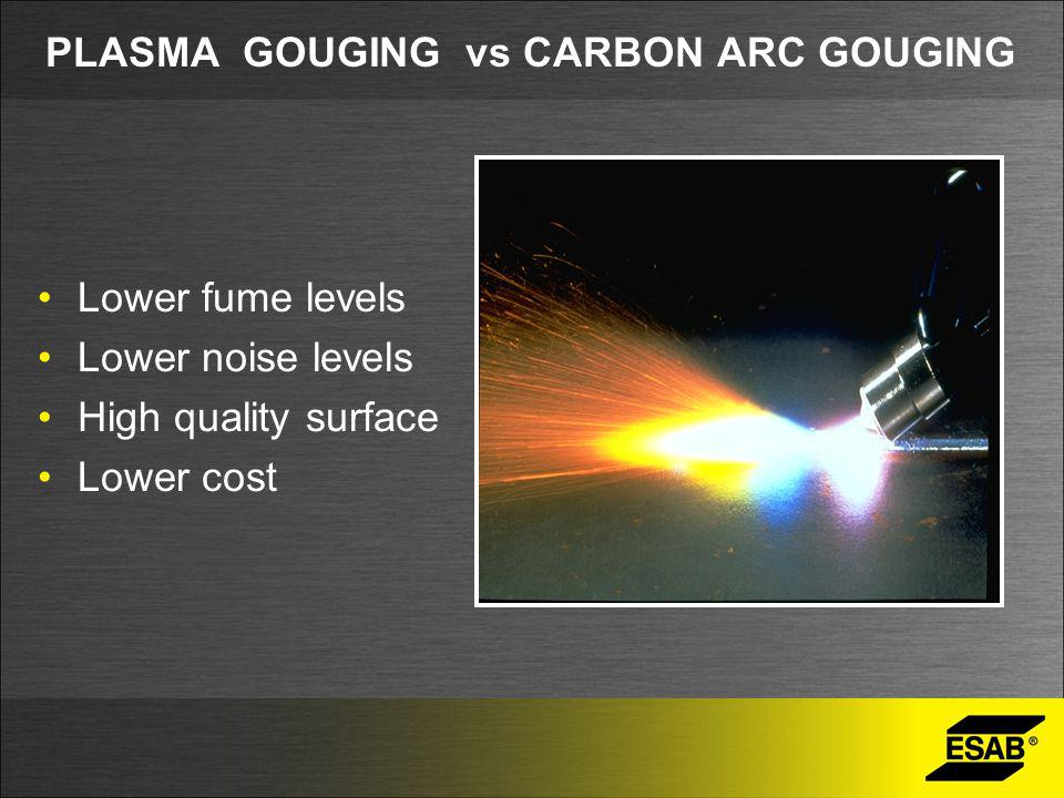 PLASMA GOUGING vs CARBON ARC GOUGING