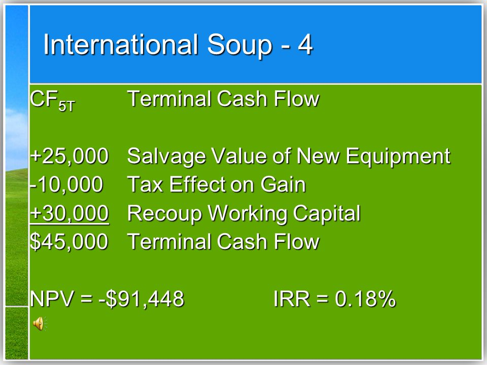 International Soup - 4 CF5T Terminal Cash Flow