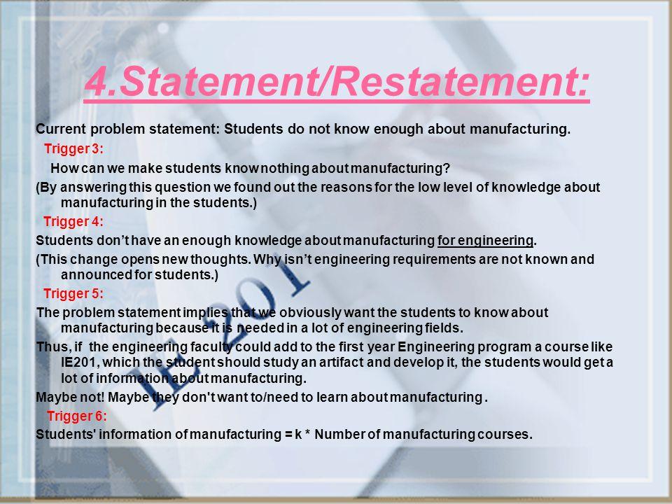 4.Statement/Restatement: