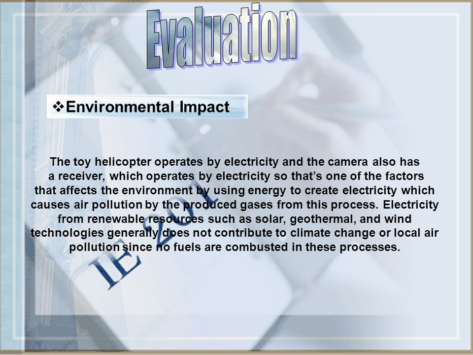 Evaluation Environmental Impact
