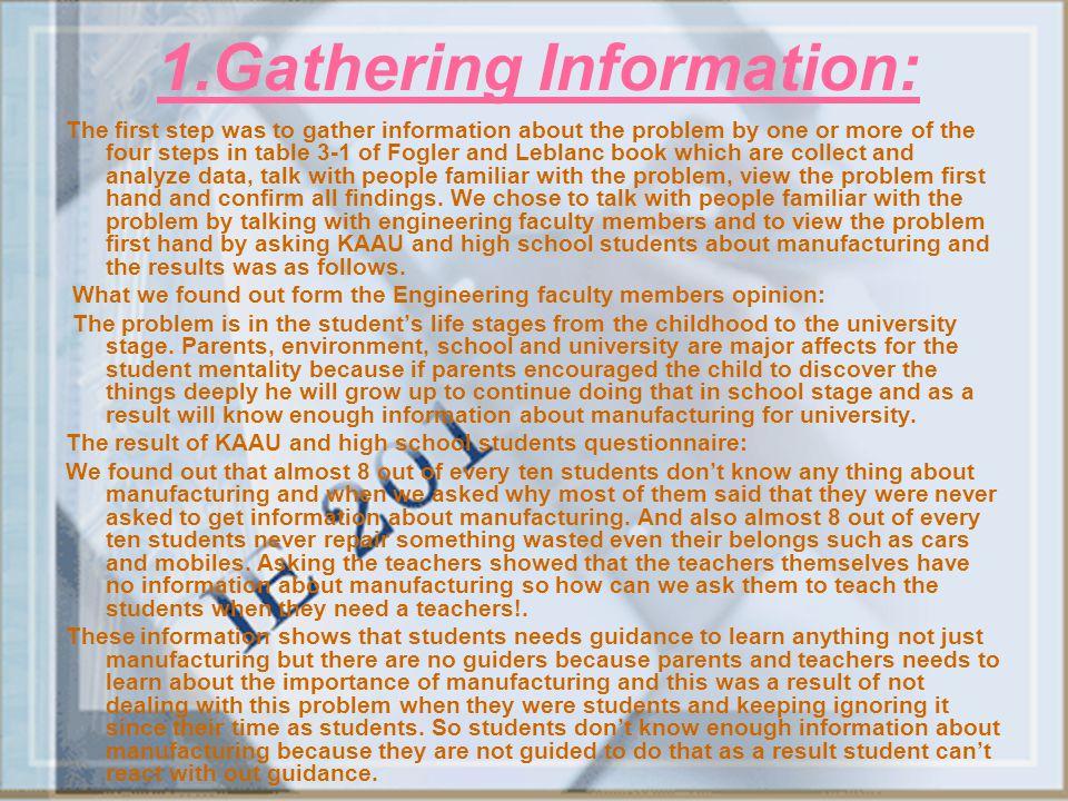 1.Gathering Information: