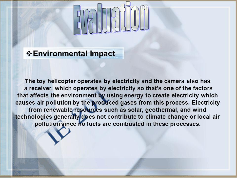 Evaluation Environmental Impact