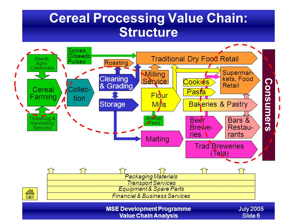 Cereal Processing Value Chain: Structure