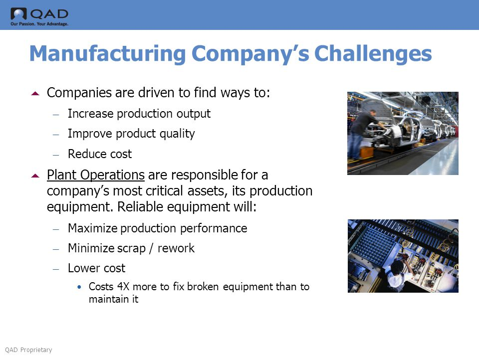 Manufacturing Company's Challenges