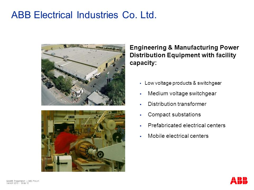 ABB Electrical Industries Co. Ltd.