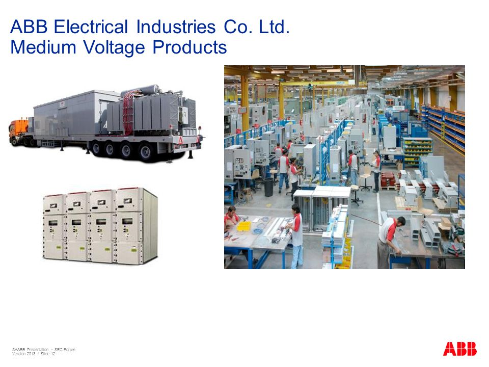 ABB Electrical Industries Co. Ltd. Medium Voltage Products