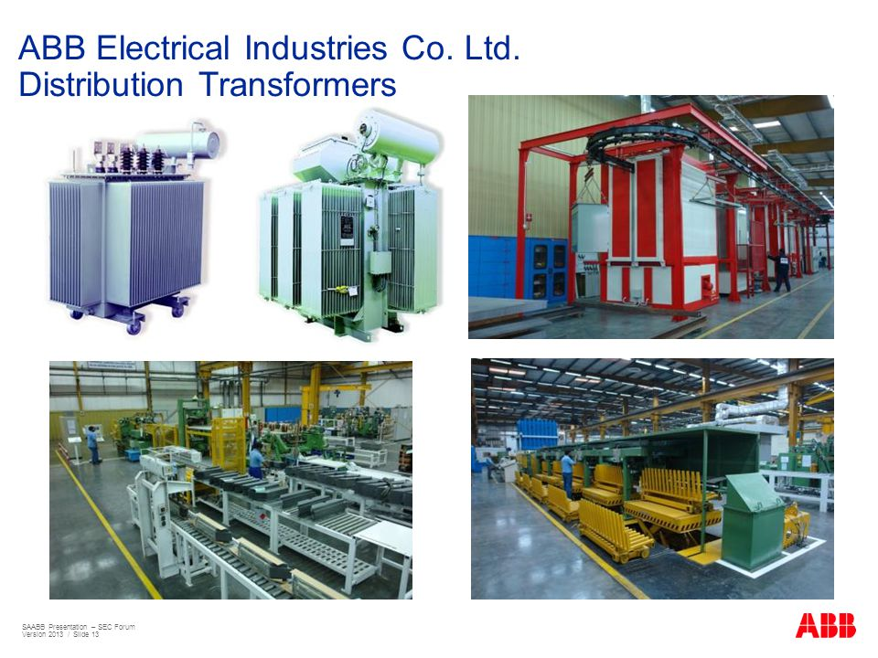 ABB Electrical Industries Co. Ltd. Distribution Transformers