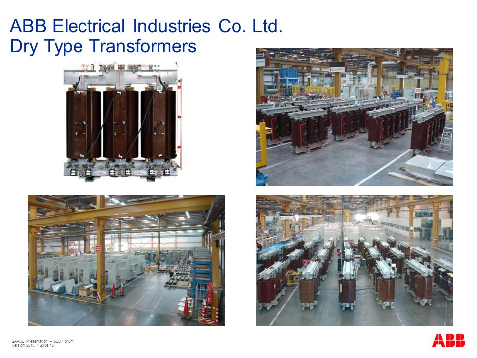 ABB Electrical Industries Co. Ltd. Dry Type Transformers