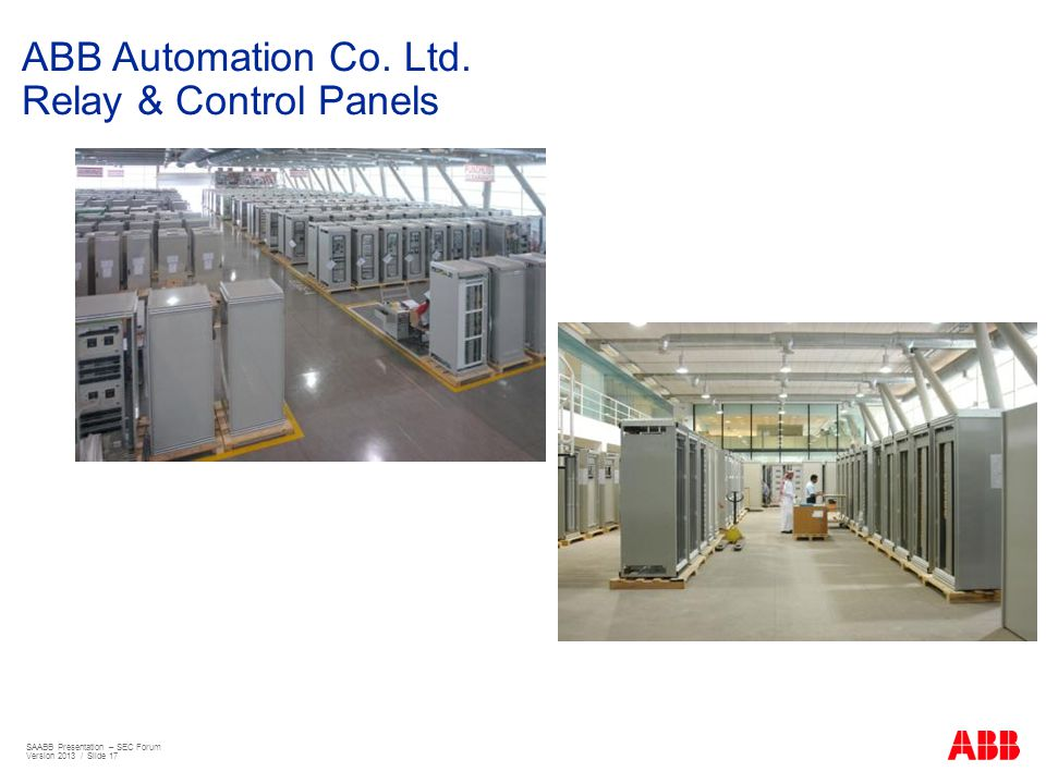 ABB Automation Co. Ltd. Relay & Control Panels
