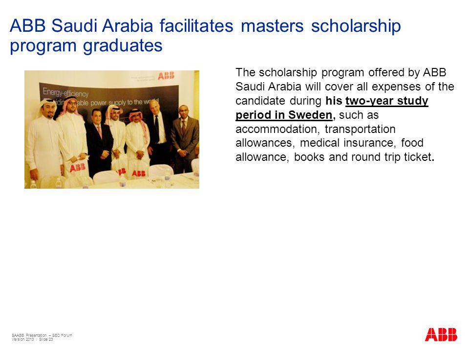 ABB Saudi Arabia facilitates masters scholarship program graduates