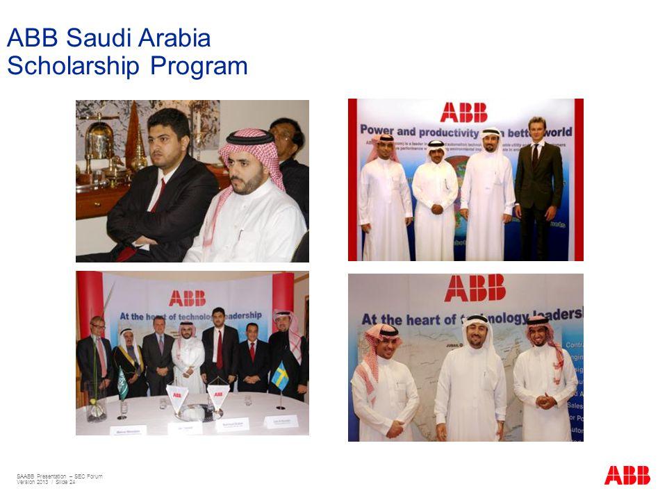 ABB Saudi Arabia Scholarship Program SAABB Presentation – SEC Forum