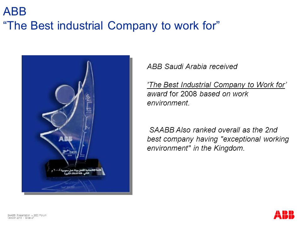 The Best industrial Company to work for