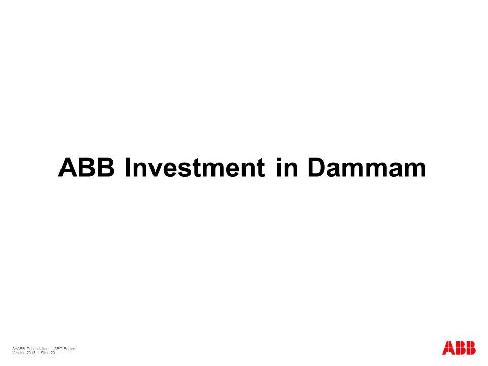 ABB Investment in Dammam