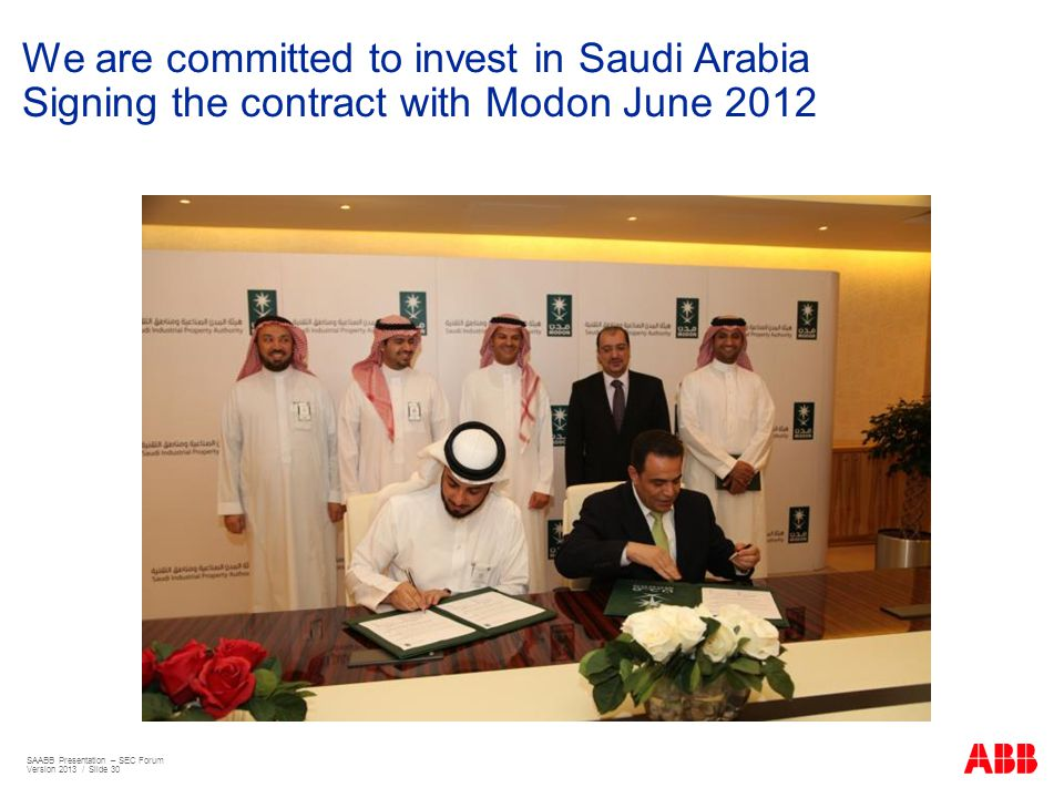 We are committed to invest in Saudi Arabia Signing the contract with Modon June 2012