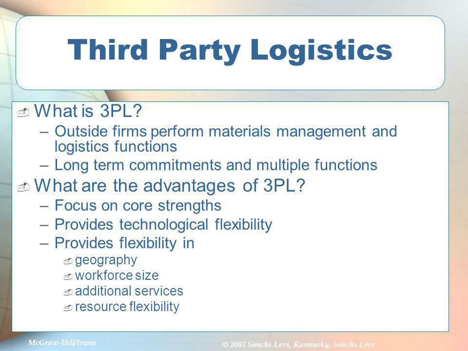 Third Party Logistics What is 3PL What are the advantages of 3PL