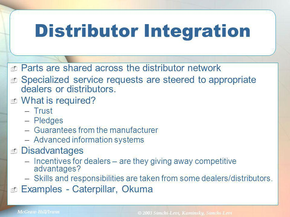 Distributor Integration
