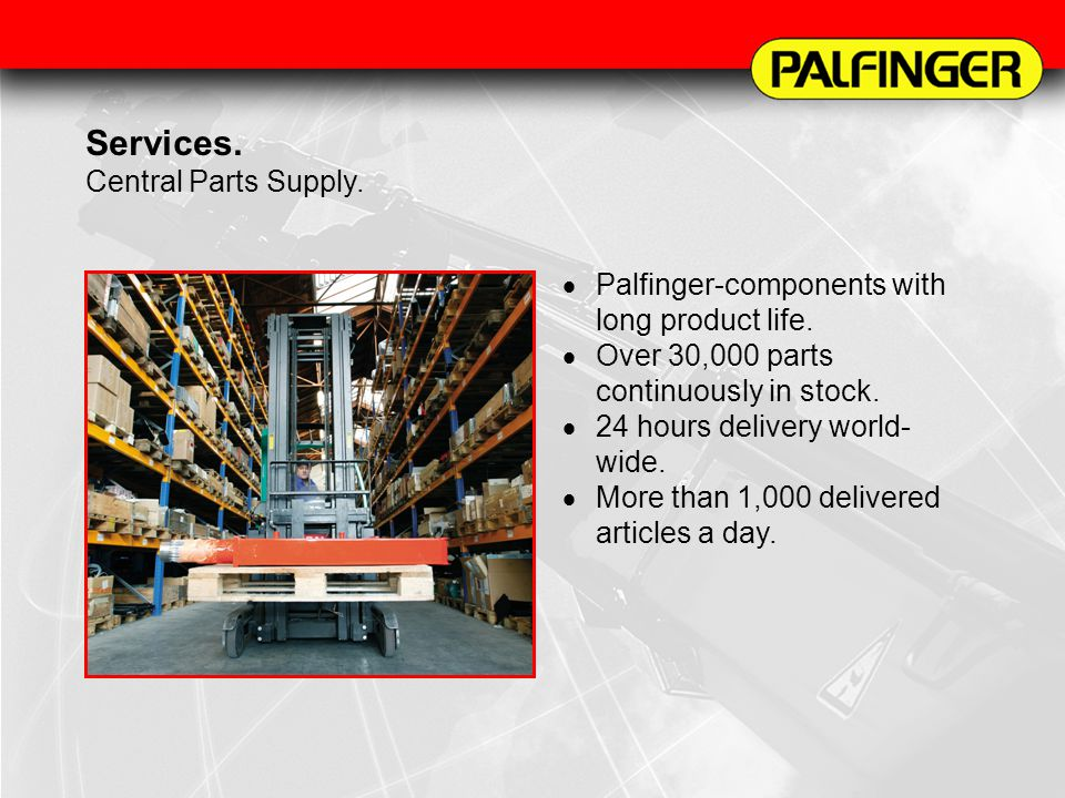 Services. Central Parts Supply.