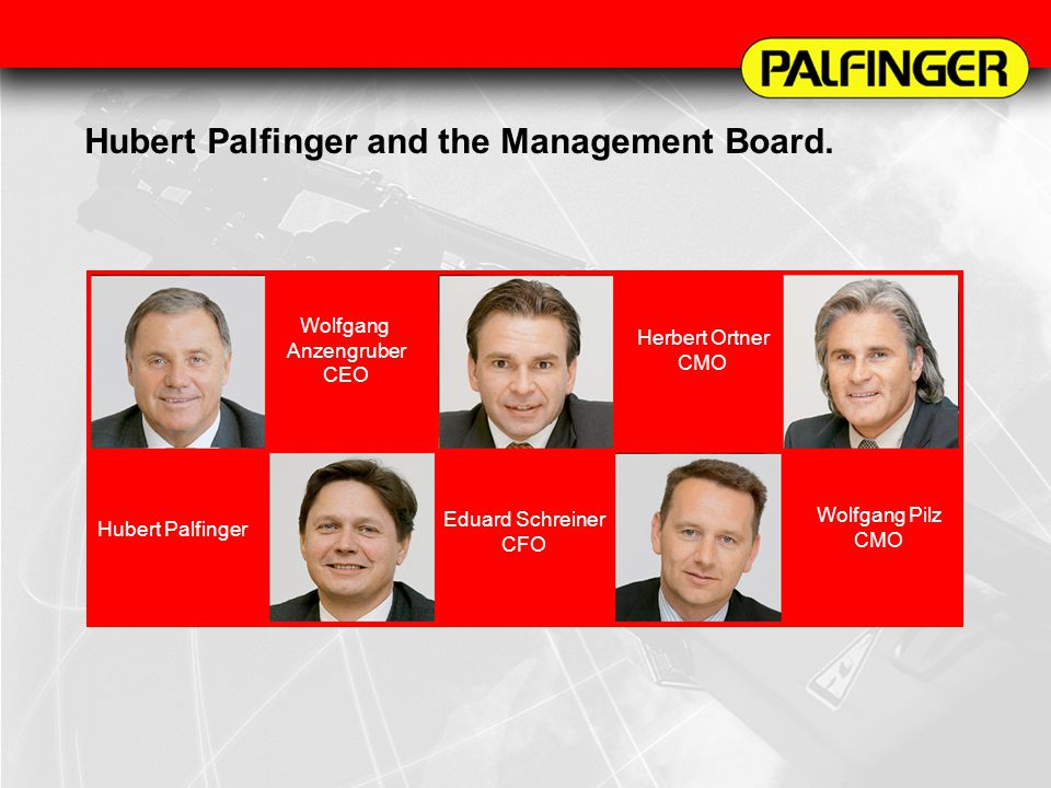 Hubert Palfinger and the Management Board.