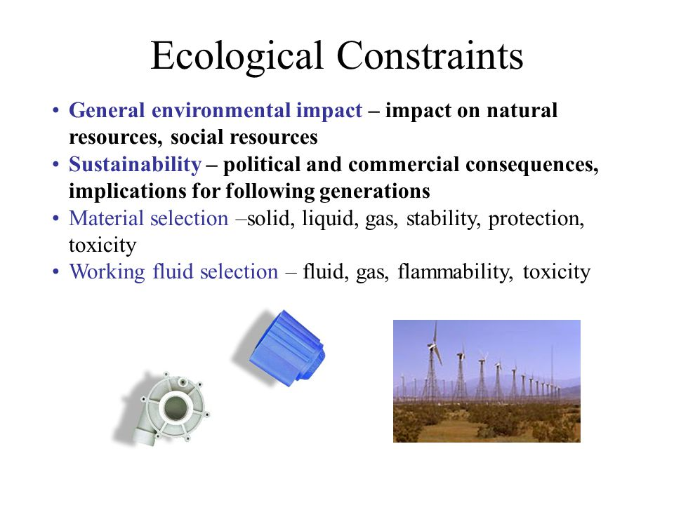 Ecological Constraints