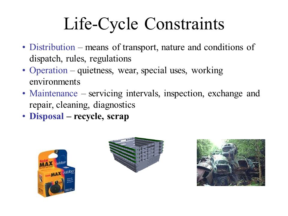 Life-Cycle Constraints