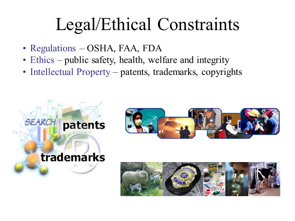 Legal/Ethical Constraints