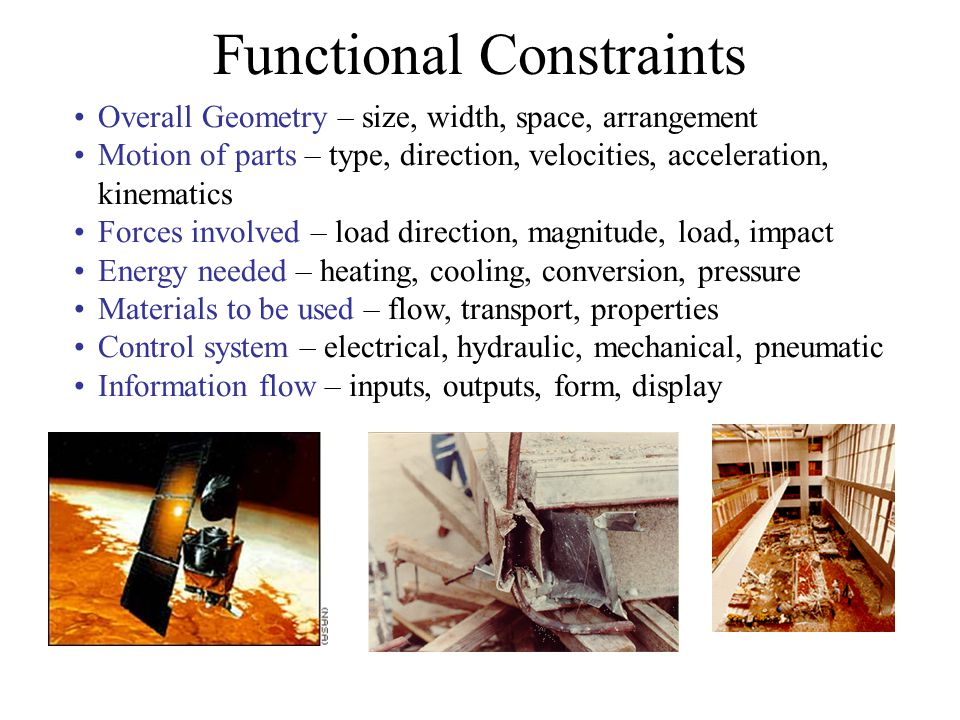 Functional Constraints
