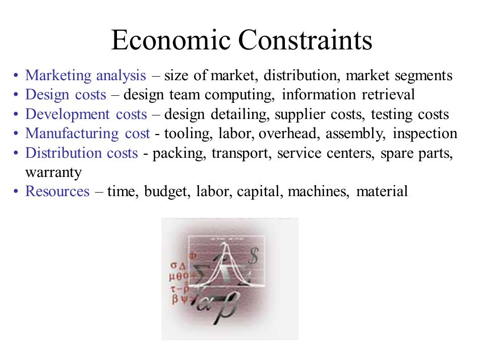 Economic Constraints $