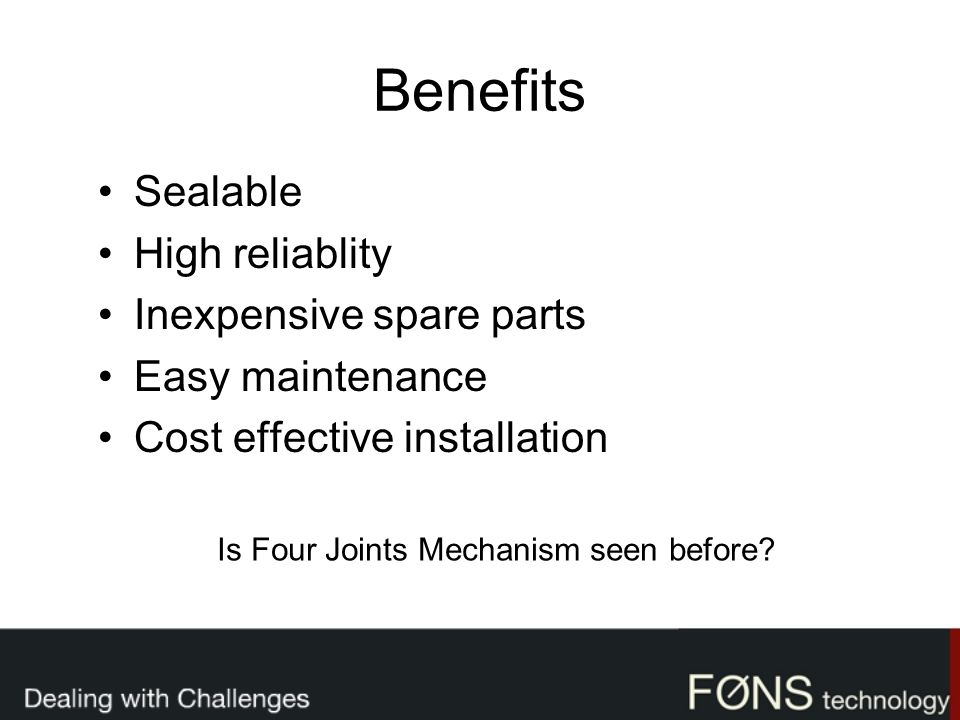 Is Four Joints Mechanism seen before