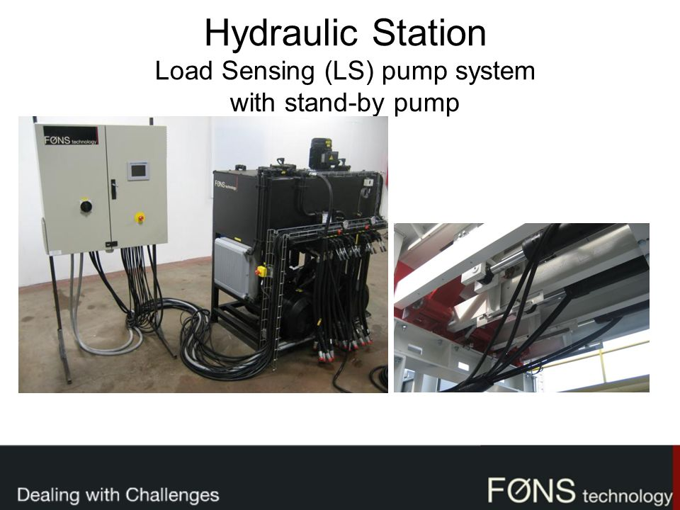Hydraulic Station Load Sensing (LS) pump system with stand-by pump