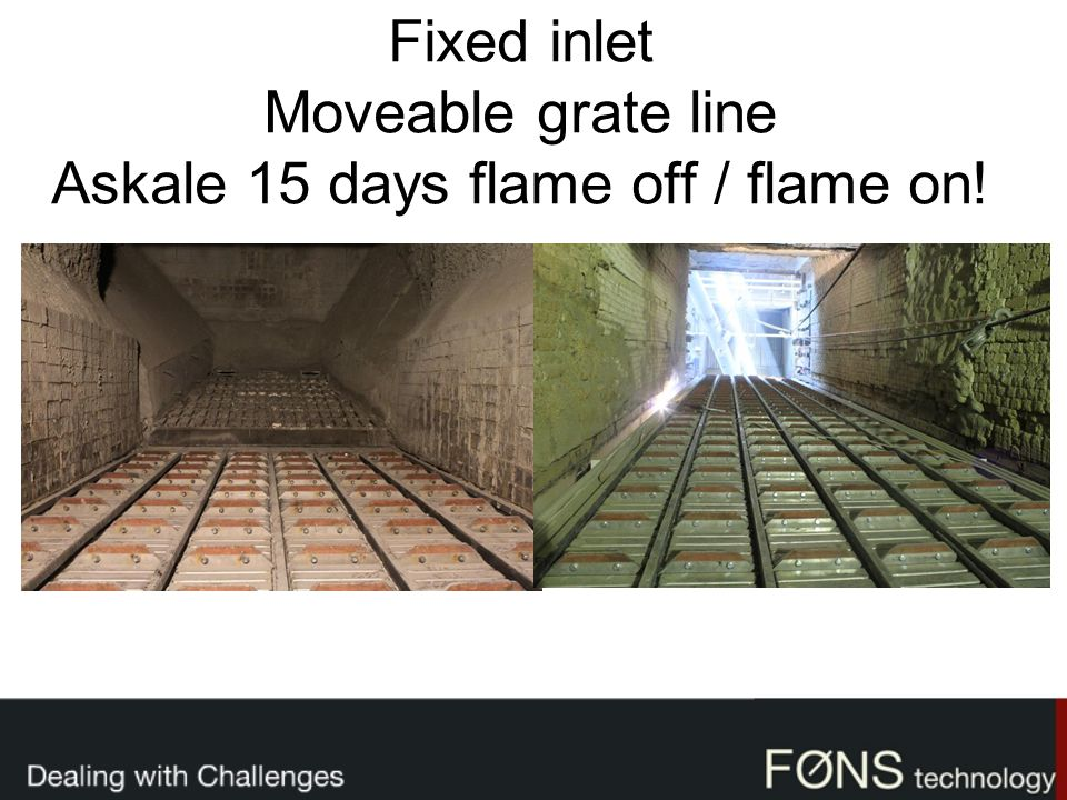 Fixed inlet Moveable grate line Askale 15 days flame off / flame on!