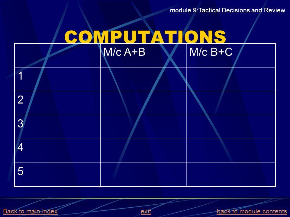 COMPUTATIONS M/c A+B M/c B+C 1 2 3 4 5