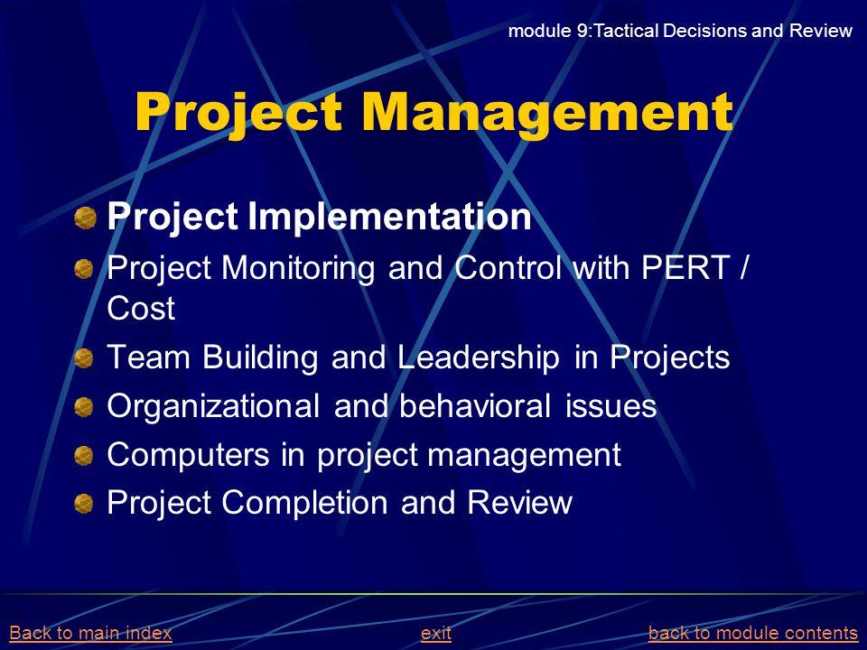 Project Management Project Implementation