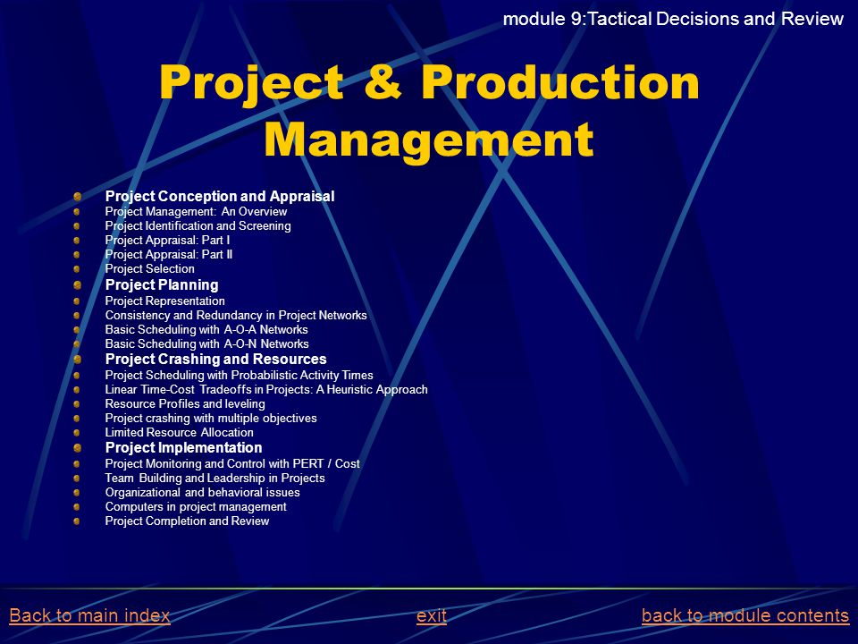 Project & Production Management