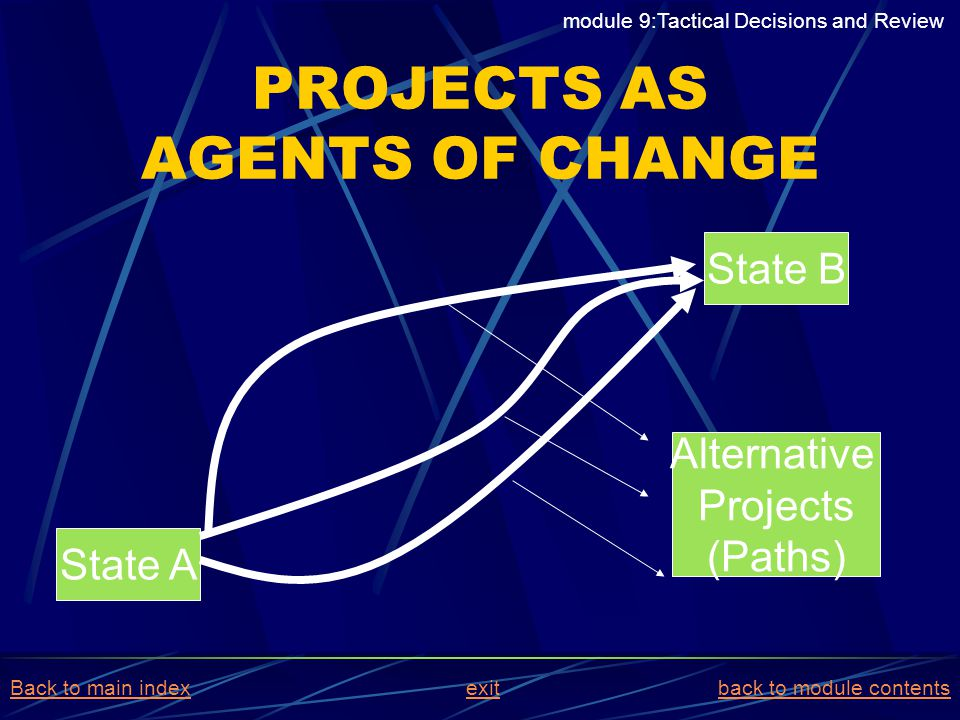 PROJECTS AS AGENTS OF CHANGE