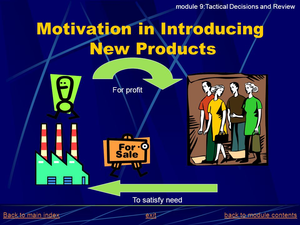 Motivation in Introducing New Products